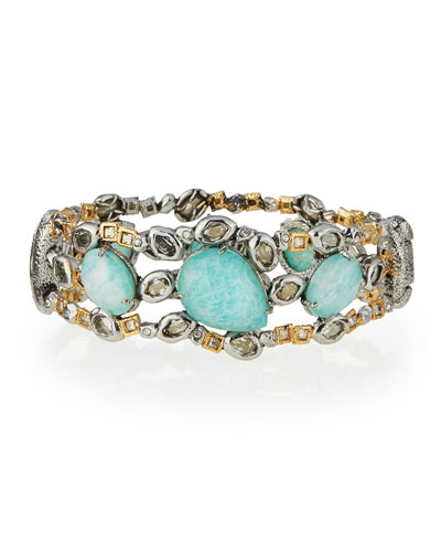 Elements Mixed-Stone Hinge Bracelet