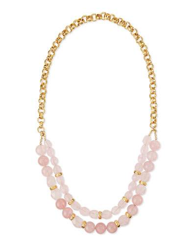 Rose Quartz Double-Strand Necklace