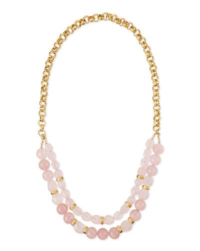 Rose Quartz Double-Strand Necklace
