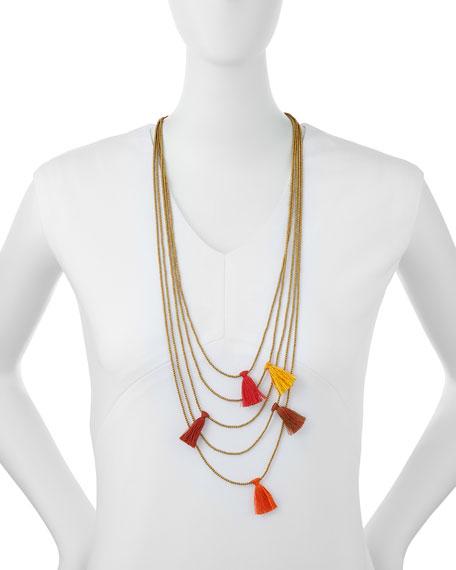 Nakamol Multi-Strand Beaded Tassel Necklace