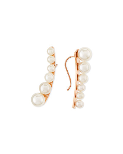 Graduated Pearly Ear Cuffs