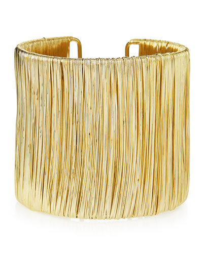 Bamboo Golden Wire Cuff