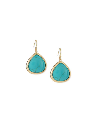 Turquoise Small Teardrop Earrings