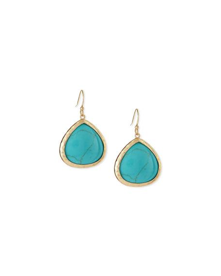 Turquoise Small Teardrop Earrings