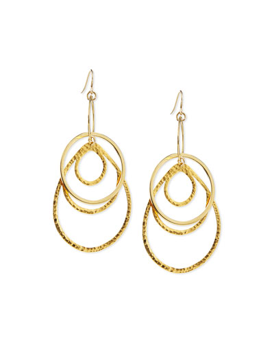 Multi-Hoop Pendant Earrings