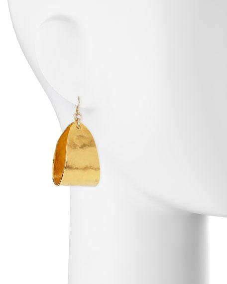 Mini 18K Yellow Gold-Plated Teardrop Hoop Earrings
