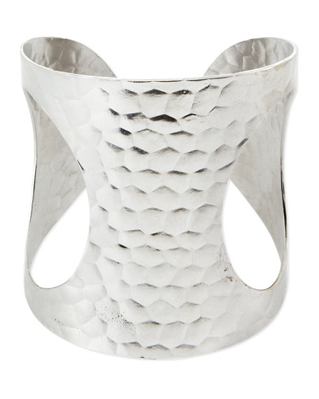 Devon Leigh Hammered Open-Side Cuff