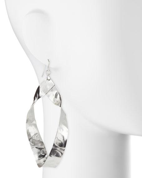 Twisted Rhodium-Plated Hoop Earrings
