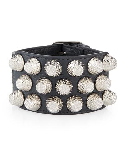 Giant 12 Triple-Row Leather Bracelet