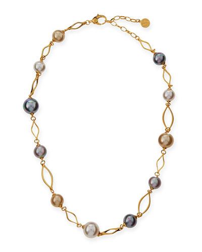 Multicolor Pearl Necklace, 16
