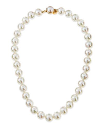 12mm Single-Strand Pearl Necklace