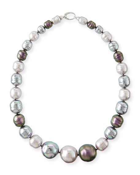 Majorica Nuage Graduated Pearl Statement Necklace