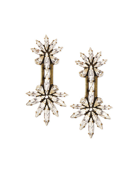 Auden Devon Crystal Chain Drop Earrings