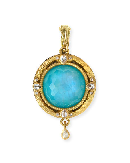 Armenta Midnight Turquoise/Moonstone Enhancer Pendant