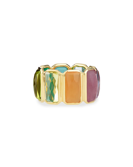 Ippolita 18k Rock Candy Fancy Rectangle Lollipop Ring