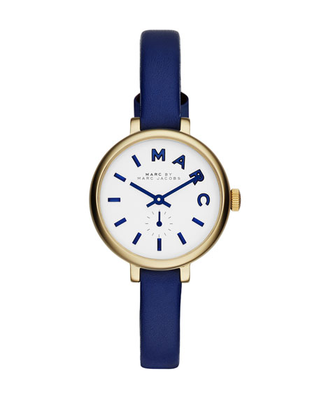 Sally Watch with Leather Strap, Blue