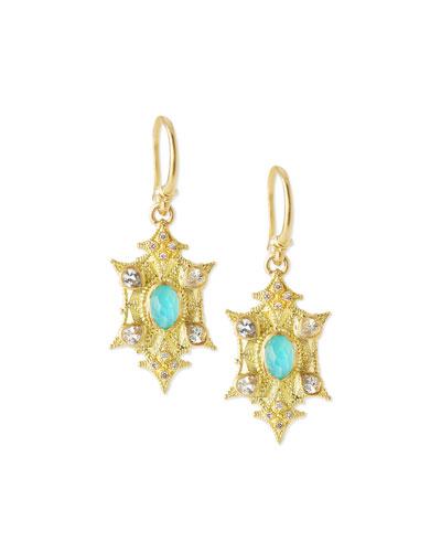 Sueno 18k Petite Pointed Drop Earrings