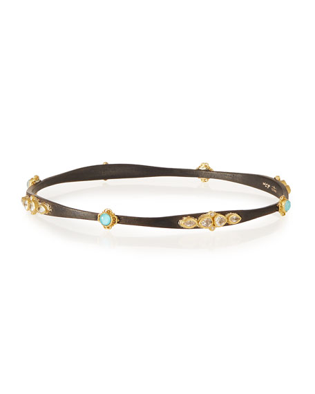 Armenta Old World Midnight & Turquoise Bangle