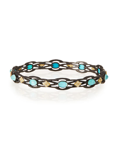 Armenta Old World Open Scroll Cravelli Bangle with