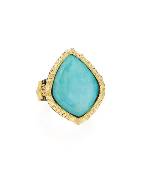 Armenta Old World Blue Turquoise & Diamond Ring