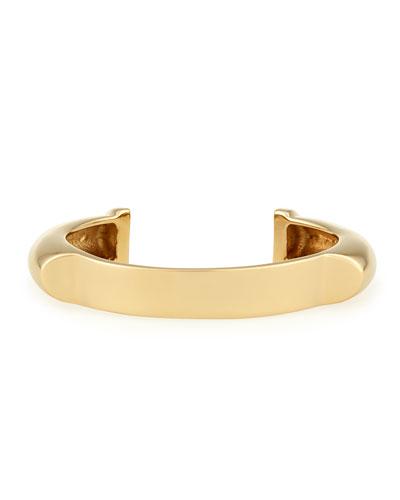 Charlotte Gold-Plated Cuff Bracelet
