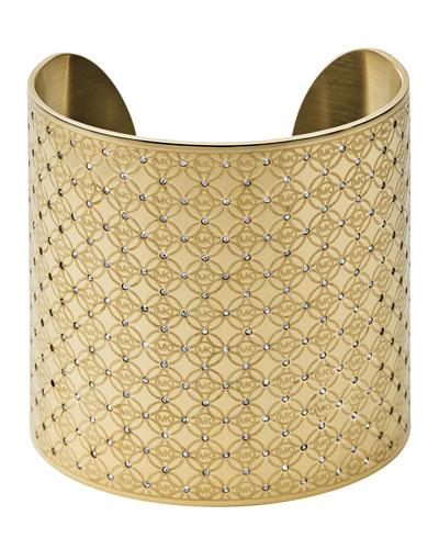 Golden MK Monogram Open Cuff
