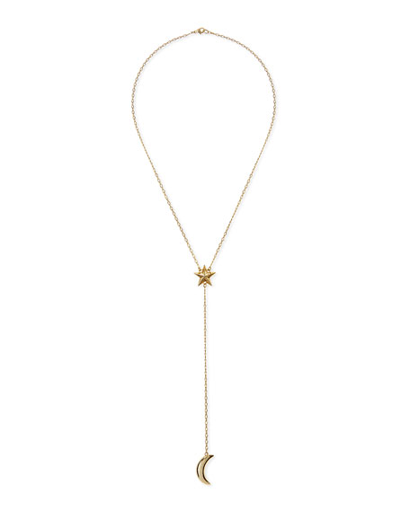 Galaxy Gold-Plated Lariat Necklace