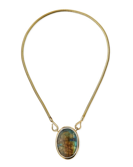 Oracle Brass Pendant Necklace