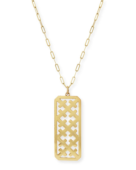 Katie Design Jewelry Large Crosses Dog Tag Gold