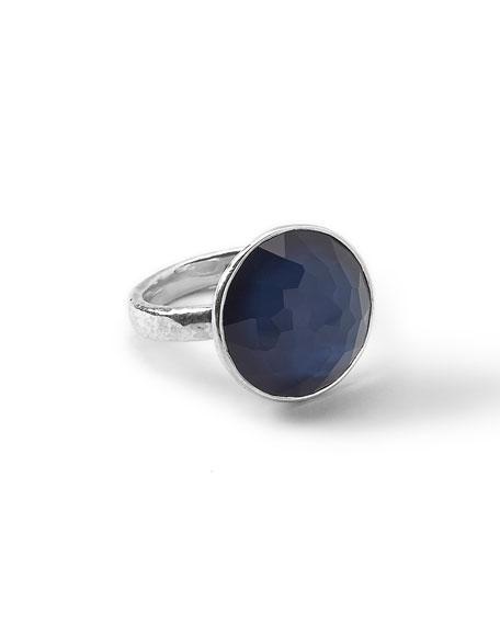 Wonderland Silver Midnight Ring