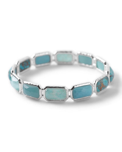 Wonderland Silver Brick Bangle