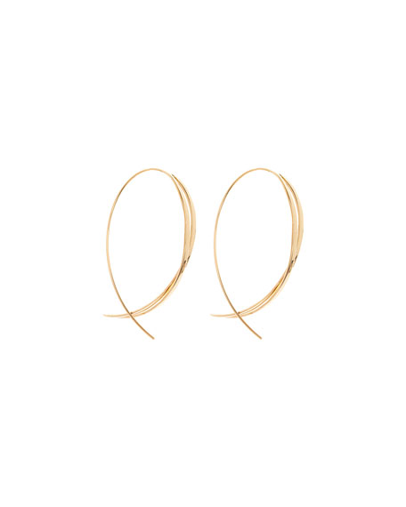 Small Twist Upside Hoop Earrings