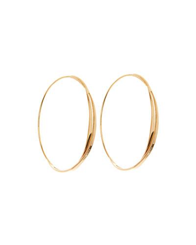 14k Small Twist Magic Hoop Earrings