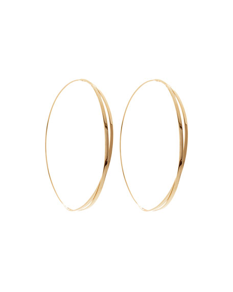 14k Large Twist Magic Hoop Earrings
