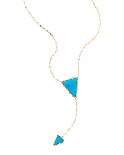 Electric Lariat Turquoise Necklace
