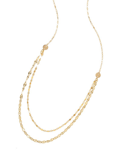 14k Glam Blush Layered Chain Necklace