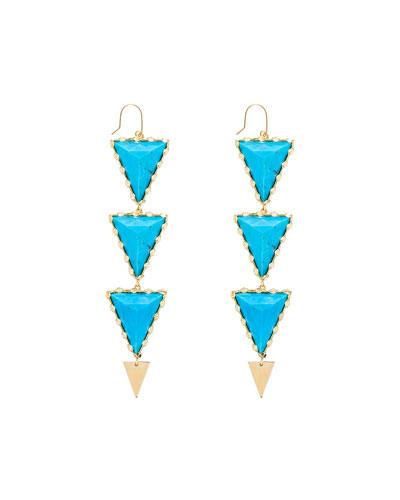 Electra Turquoise Drop Earrings