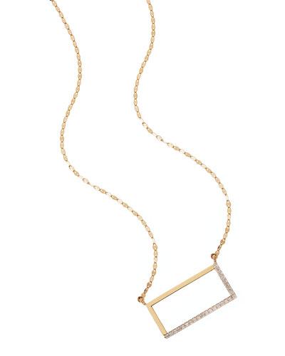14k Illusion Diamond Pendant Necklace