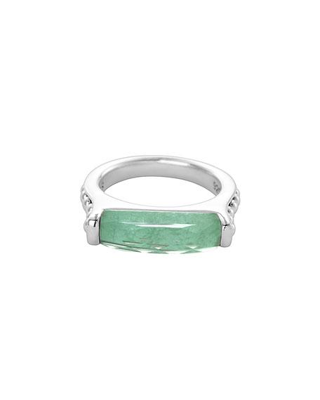 Maya Silver Variscite Stackable Ring, Size 7