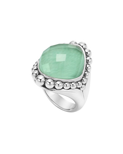 Maya Variscite Doublet Dome Ring, Size 7