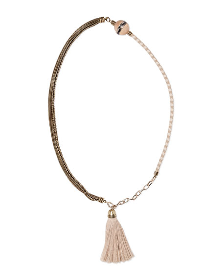 Lanvin Natu Long Tassel Necklace