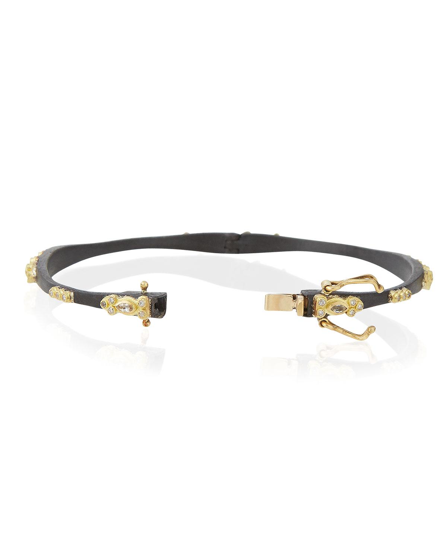 Armenta Midnight Sapphire & Diamond Huggie Bracelet f9JzBEVuLv