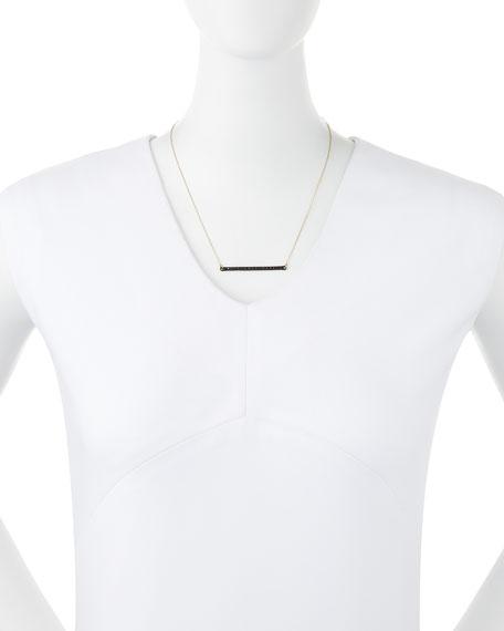 Midnight Black Diamond Bar Necklace