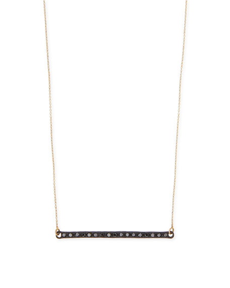 Armenta Midnight Black Diamond Bar Necklace
