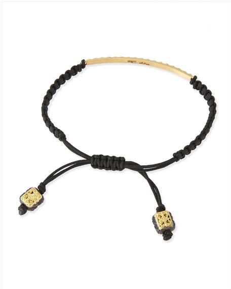 18k Black Diamond Bar Bracelet