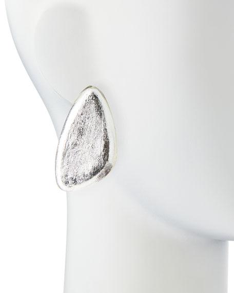 Freeform Silver Foil Earrings