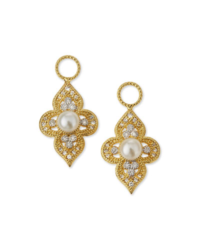 18k Provence Flower Earring Charms
