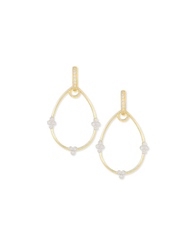 Yellow Gold Provence Pear Earring Frames