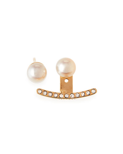 Akoya Pearl Stud Earrings & Ear Jacket