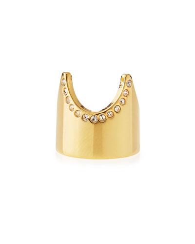 Gold-Plated Nail Ring